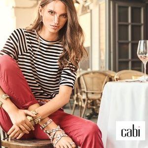 CAbi Black & White Striped Bistro Tee Soft #5188